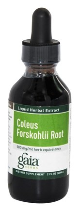DROPPED: Gaia Herbs - Coleus Forskohlii Root 500 mg. - 2 oz.
