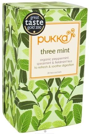 DROPPED: Pukka Herbs - Organic Herbal Tea Three Mint - 20 Tea Bags