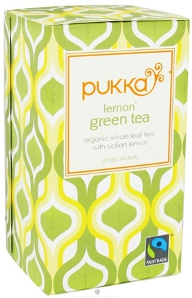 DROPPED: Pukka Herbs - Organic Green Tea Lemon - 20 Tea Bags CLEARANCE PRICED