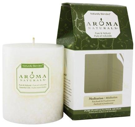 Aroma Naturals - Meditation Naturally Blended Pillar Eco-Candle Patchouli & Frankincense