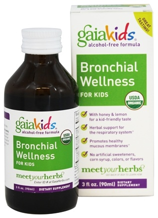 DROPPED: Gaia Herbs - GaiaKids Bronchial Wellness for Kids with Honey & Lemon - 3 oz.