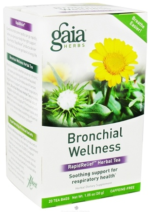 DROPPED: Gaia Herbs - Bronchial Wellness RapidRelief Herbal Tea - 20 Tea Bags CLEARANCE PRICED