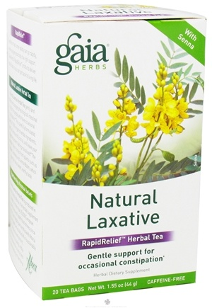 DROPPED: Gaia Herbs - Natural Laxative RapidRelief Herbal Tea - 20 Tea Bags CLEARANCE PRICED