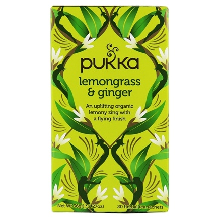 DROPPED: Pukka Herbs - Organic Herbal Tea Lemongrass & Ginger - 20 Tea Bags