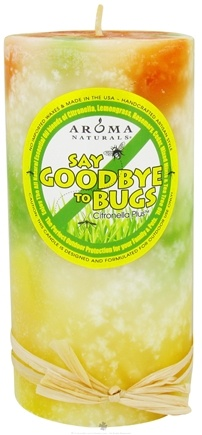 "Zoom View - Say Goodbye to Bugs Citronella Plus Pillar Eco-Candle 3"" x 6"""