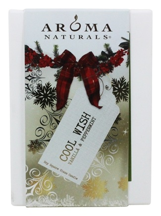 "Zoom View - Wish Holiday Naturally Blended Pillar Eco-Candle 2.75"" x 5"""