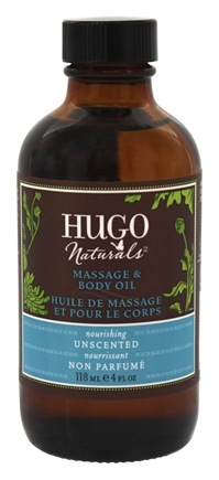 DROPPED: Hugo Naturals - Massage & Body Oil Nourishing Unscented - 4 oz.