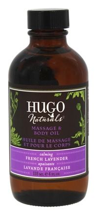 Hugo Naturals - Massage & Body Oil Calming French Lavender - 4 oz.
