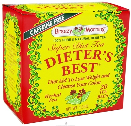 DROPPED: Breezy Morning Tea - Dieter's Best Super Diet Tea 100% Pure & Natural Caffeine Free - 20 Tea Bags