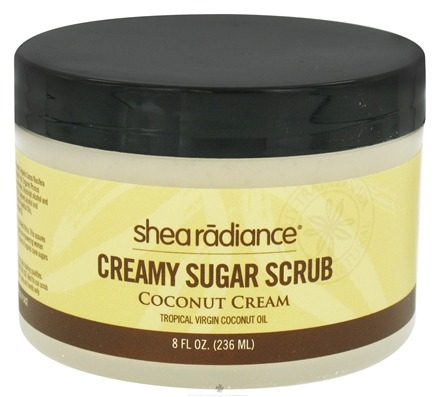DROPPED: Shea Radiance - Creamy Sugar Scrub Coconut Cream - 8 oz. CLEARANCE PRICED