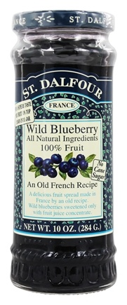 St. Dalfour - Fruit Spread 100% Natural Jam Wild Blueberry - 10 oz.