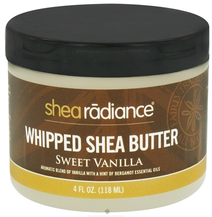 DROPPED: Shea Radiance - Whipped Shea Butter Sweet Vanilla - 4 oz. CLEARANCE PRICED