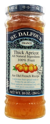 St. Dalfour - Fruit Spread 100% Natural Jam Thick Apricot - 10 oz.