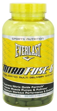 DROPPED: Everlast Sports Nutrition - NitroFuse-6 - 180 Tablets CLEARANCE PRICED