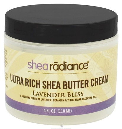 DROPPED: Shea Radiance - Ultra Rich Shea Butter Cream Lavender Bliss - 4 oz. CLEARANCE PRICED