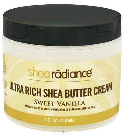 DROPPED: Shea Radiance - Ultra Rich Shea Butter Cream Sweet Vanilla - 4 oz. CLEARANCE PRICED