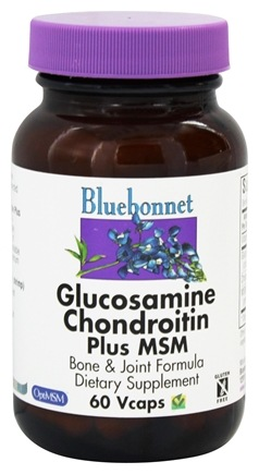 Bluebonnet Nutrition - Glucosamine Chondroitin Plus MSM - 60 Vegetarian Capsules