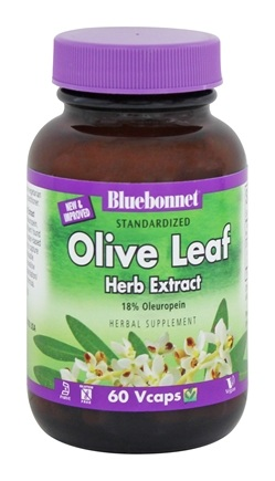 Bluebonnet Nutrition - Herbals Olive Leaf Extract 300 mg. - 60 Vegetarian Capsules