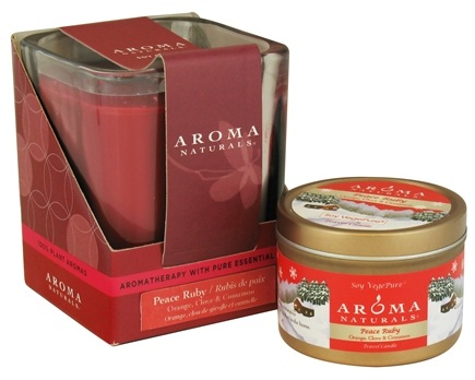 Zoom View - Peace Ruby Holiday Set Soy Vegepure Square Glass and Small Tin Eco-Candles