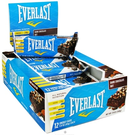 DROPPED: Everlast Sports Nutrition - Energy Bar Dark Chocolate Nut - 1.6 oz. CLEARANCE PRICED