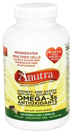 DROPPED: Anutra - Omega-3s Antioxidants - 180 Gelcaps