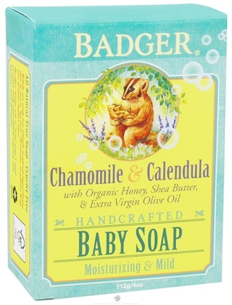 DROPPED: Badger - Handcrafted Baby Soap Chamomile & Calendula - 4 oz. CLEARANCE PRICED