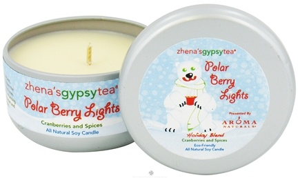Zoom View - Zhena's Gypsy Tea Polar Berry Lights Holiday Medium Tin Eco-Candle