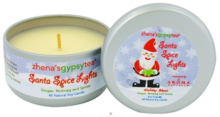 Zoom View - Zhena's Gypsy Tea Santa Spice Lights Holiday Medium Tin Eco-Candle