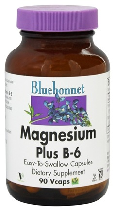 DROPPED: Bluebonnet Nutrition - Magnesium Plus B-6 - 90 Vegetarian Capsules