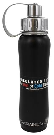 New Wave Enviro Products - Doublewall Hot/Cold Insulated Stainless Steel Water Bottle Black Matte - 17 oz.