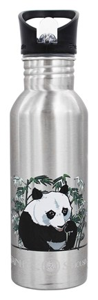 New Wave Enviro Products - Stainless Steel Water Bottle Endangered Species Giant Panda - 20 oz.