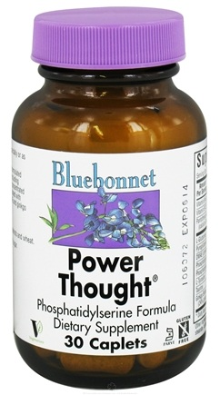 DROPPED: Bluebonnet Nutrition - Power Thought Phosphatidylserine Formula - 30 Caplets CLEARANCE PRICED