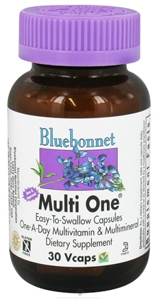 DROPPED: Bluebonnet Nutrition - Multi One Multivitamin & Multimineral - 30 Vegetarian Capsules CLEARANCE PRICED