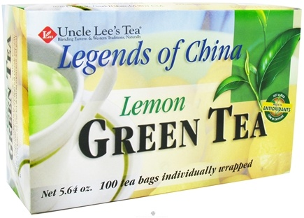 DROPPED: Uncle Lee's Tea - Legends of China Green Tea Lemon - 100 Tea Bags cLEARANCE PRICED
