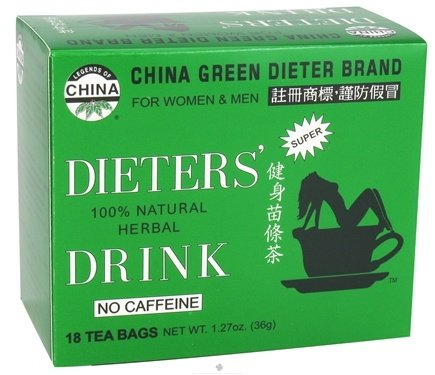 DROPPED: Uncle Lee's Tea - Dieter's Drink Herbal Tea 100% Natural No Caffeine - 18 Tea Bags CLEARANCE PRICED