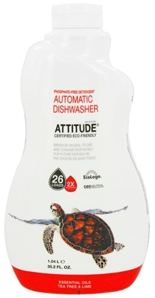 DROPPED: Attitude - Automatic Dishwasher Phosphate Free Detergent 26 Loads Tea Tree & Lime - 35.2 oz. CLEARANCE PRICED