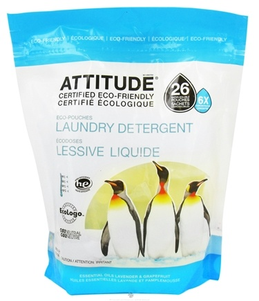 DROPPED: Attitude - Laundry Detergent 26 Pouches Lavender & Grapefruit - 13.7 oz. CLEARANCE PRICED