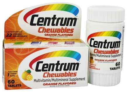 DROPPED: Centrum - Chewable Multivitamin/Multimineral Orange Flavored - 60 Chews