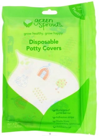 DROPPED: Green Sprouts - Disposable Potty Covers 22 in. x 20 in. - 5 Pack