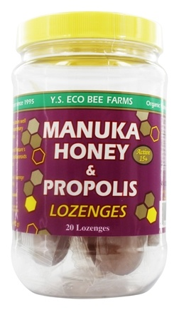 YS Organic Bee Farms - Manuka Honey & Propolis Lozenges - 20 Lozenges