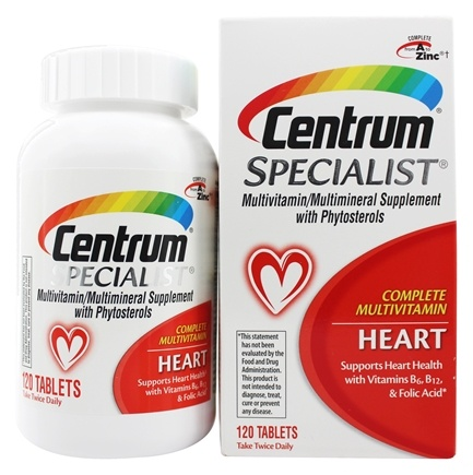 DROPPED: Centrum - Specialist Complete Multivitamin Heart - 120 Tablets