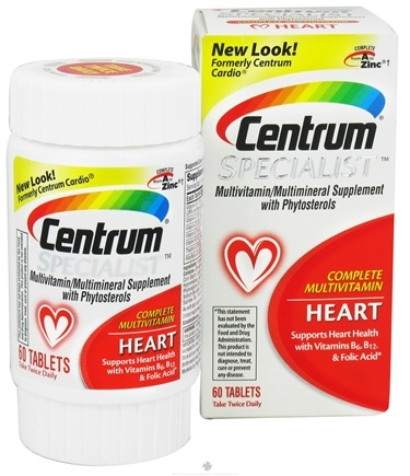 DROPPED: Centrum - Specialist Complete Multivitamin Heart - 60 Tablets CLEARANCE PRICED