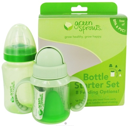 DROPPED: Green Sprouts - Bottle Starter Set with 8 Feeding Options - 13 Piece(s)