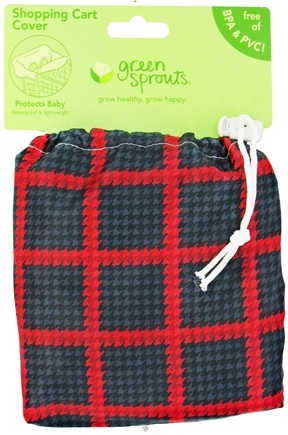 DROPPED: Green Sprouts - Shopping Cart Cover Red & Black - CLEARANCE PRICED