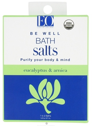 DROPPED: EO Products - Bath Salts Be Well Eucalyptus & Arnica - 1.87 oz. CLEARANCE PRICED