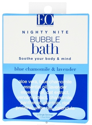 DROPPED: EO Products - Bubble Bath Nighty Nite Blue Chamomile & Lavender - 1.75 oz. CLEARANCE PRICED