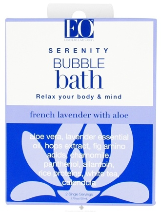 DROPPED: EO Products - Bubble Bath Serenity French Lavender with Aloe - 1.75 oz. CLEARANCE PRICED
