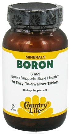 DROPPED: Country Life - Boron 6 mg. - 60 Tablets