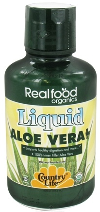 Zoom View - Real Food Organics Liquid Aloe Vera