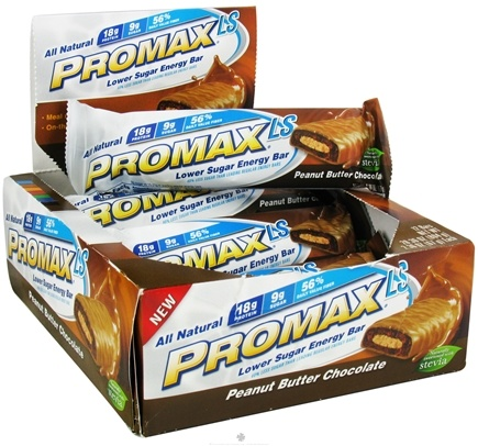 DROPPED: Promax - LS Low Sugar Energy Bar Peanut Butter Chocolate - 2.36 oz.